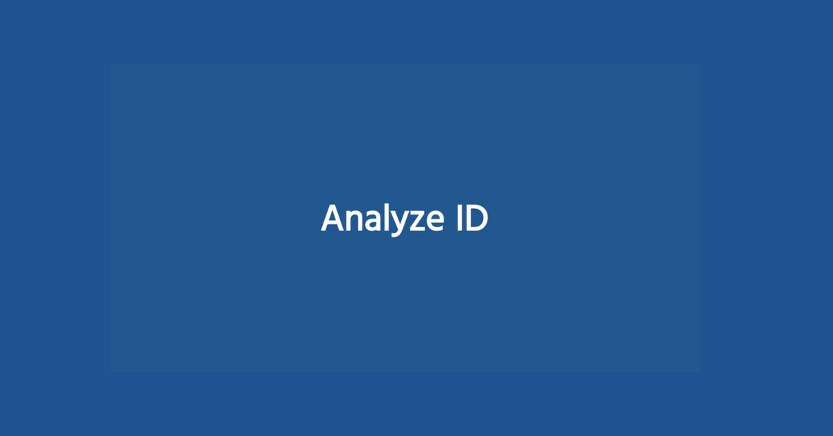 Analyze ID