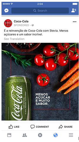 coca cola facebook ads