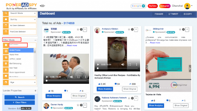 filter-best-facebook-ads-using-poweradspy