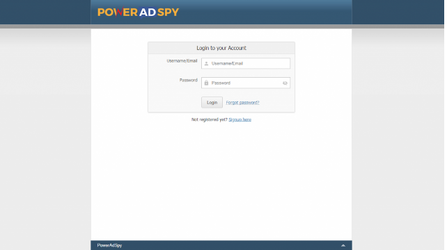 Poweradspy-login-page