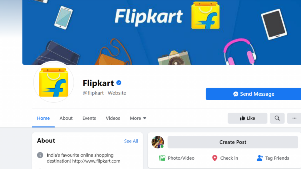 find competitor facebook business page