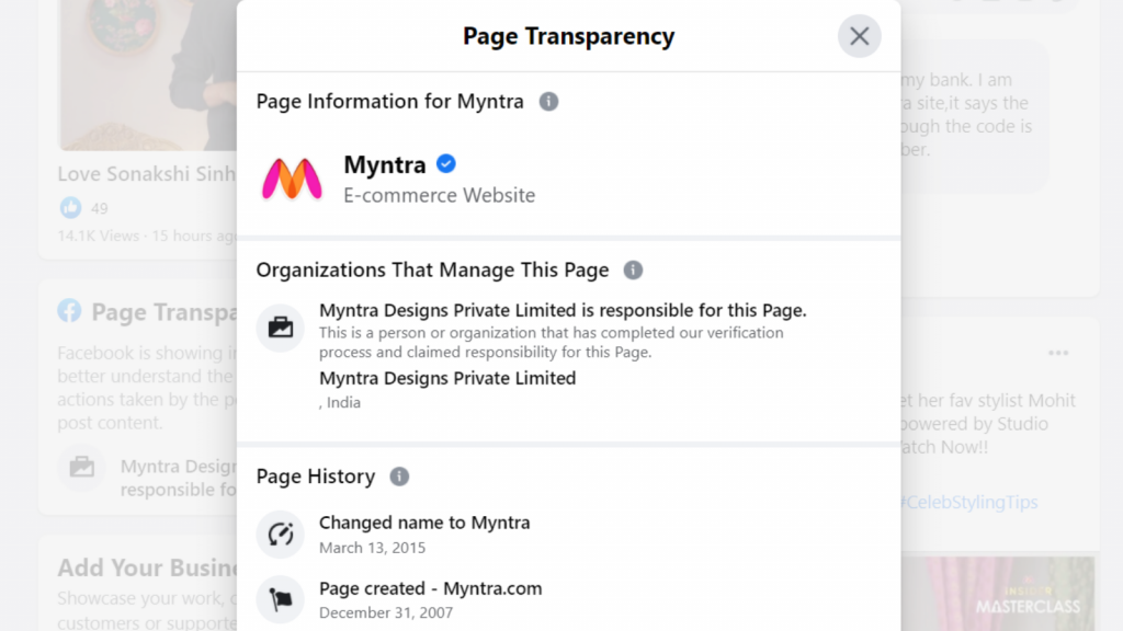 PAGE TRANSPARENCY SECTION